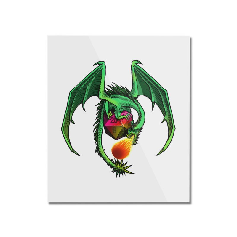Dragon d20 Home Mounted Acrylic Print by Joe Abboreno's Artist Shop