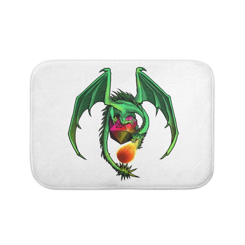 Dragon d20 Home Bath Mat by Joe Abboreno's Artist Shop