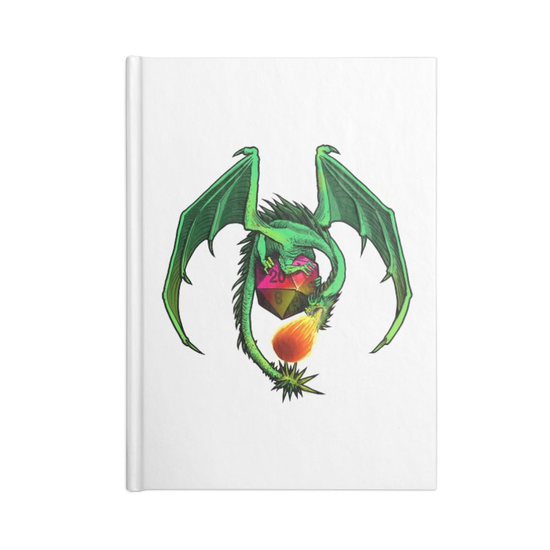 Dragon d20 Accessories Lined Journal Notebook by Joe Abboreno's Artist Shop