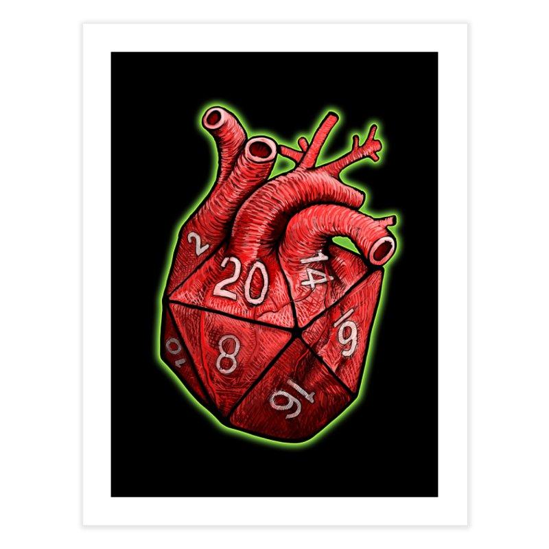 d20 Heart Home Fine Art Print by Joe Abboreno's Artist Shop