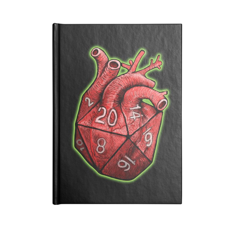 d20 Heart Accessories Blank Journal Notebook by Joe Abboreno's Artist Shop