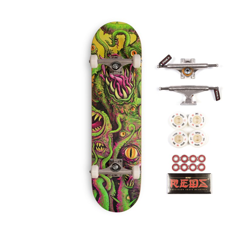 Tentacled Creature Accessories Complete - Pro Skateboard by Joe Abboreno's Artist Shop