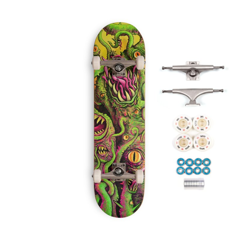Tentacled Creature Accessories Complete - Premium Skateboard by Joe Abboreno's Artist Shop