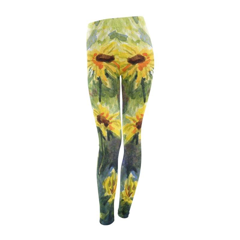 Black Eyed Susans Women's Leggings Bottoms by Joe Abboreno's Artist Shop