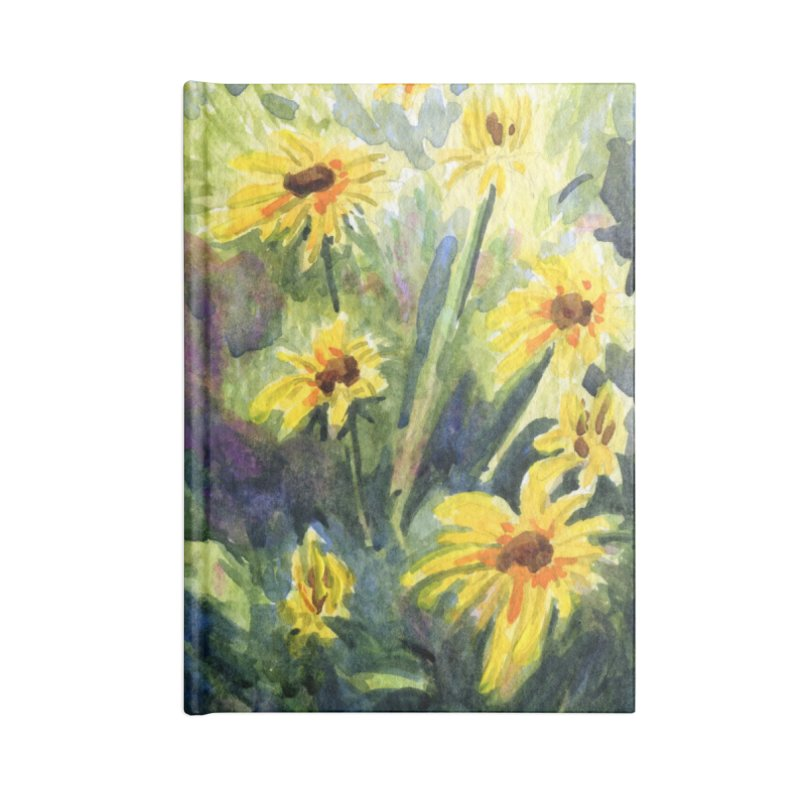 Black Eyed Susans Accessories Lined Journal Notebook by Joe Abboreno's Artist Shop