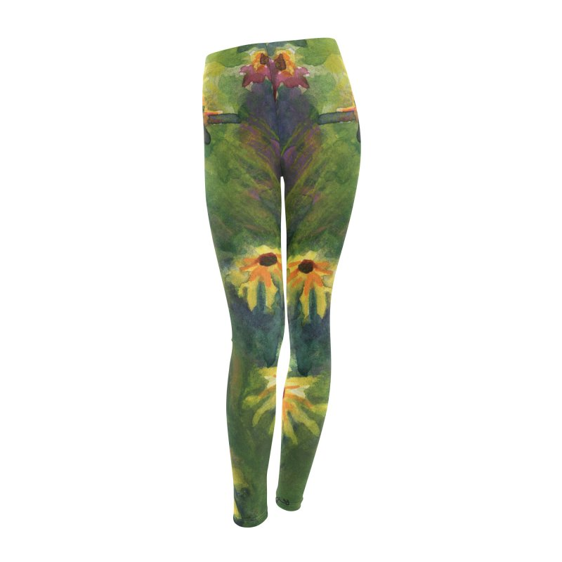 Coneflowers and Black Eyed Susans Women's Leggings Bottoms by Joe Abboreno's Artist Shop
