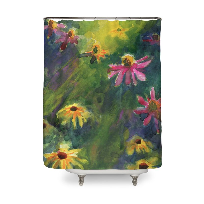 Coneflowers and Black Eyed Susans Home Shower Curtain by Joe Abboreno's Artist Shop