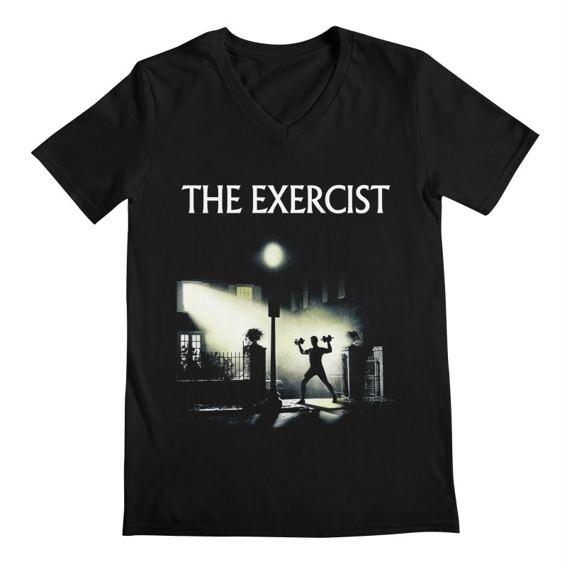 The Exercist Men's Regular V-Neck by Joe Conde