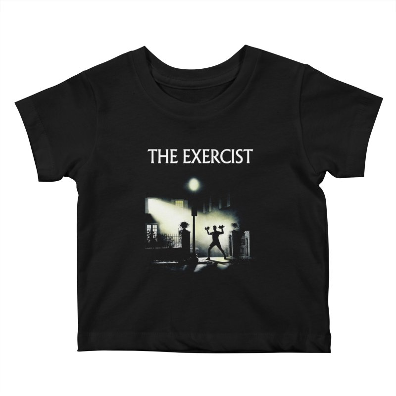 The Exercist Kids Baby T-Shirt by Joe Conde