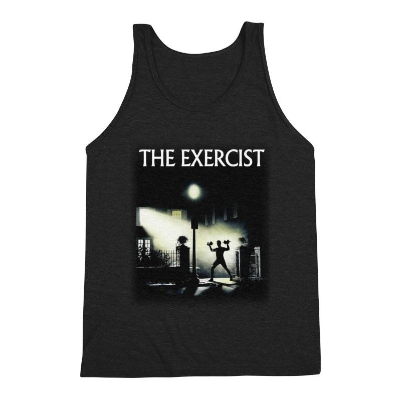 The Exercist Men's Triblend Tank by Joe Conde