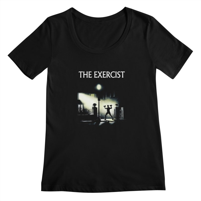 The Exercist Women's Scoopneck by Joe Conde