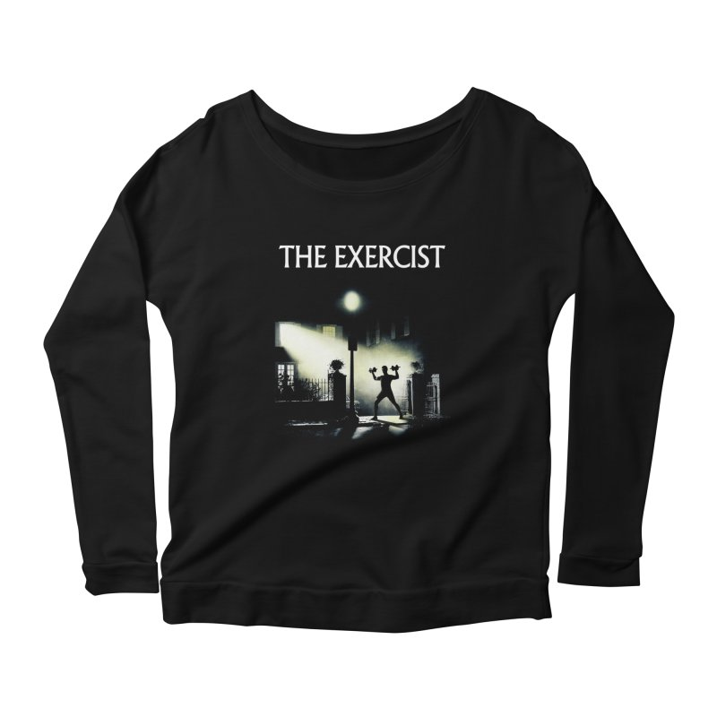 The Exercist Women's Longsleeve Scoopneck  by Joe Conde