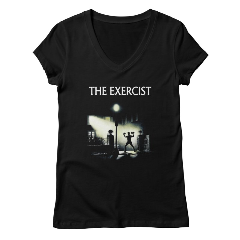 The Exercist Women's Regular V-Neck by Joe Conde