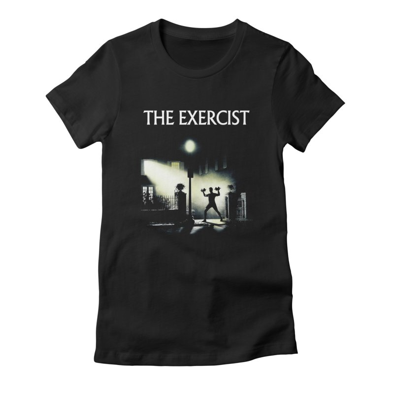 The Exercist Women's Fitted T-Shirt by Joe Conde