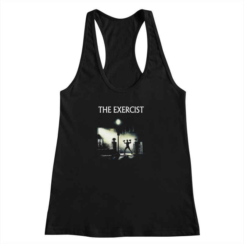 The Exercist Women's Racerback Tank by Joe Conde