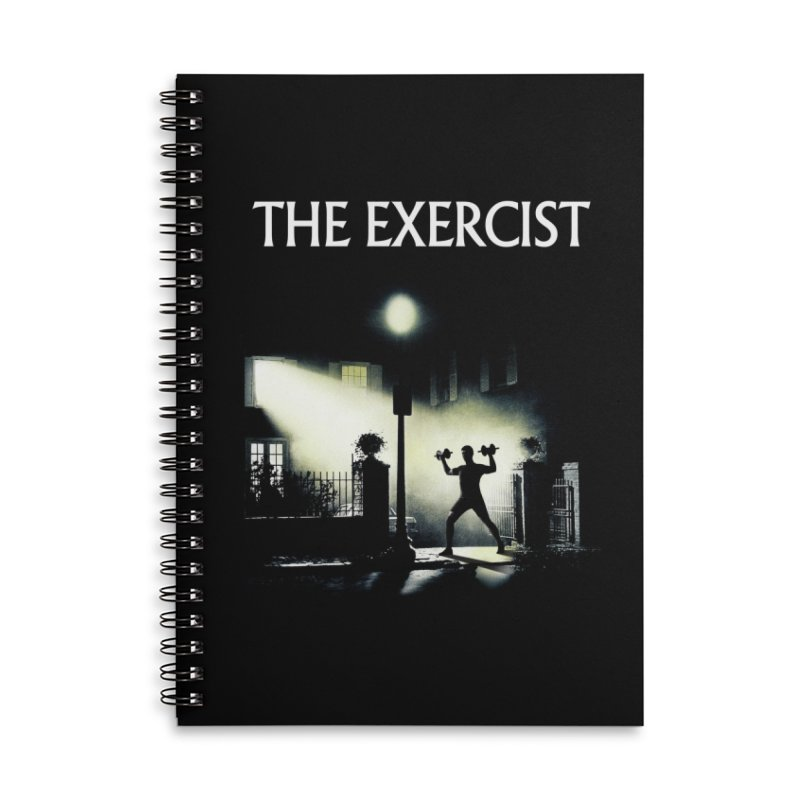 The Exercist Accessories Lined Spiral Notebook by Joe Conde