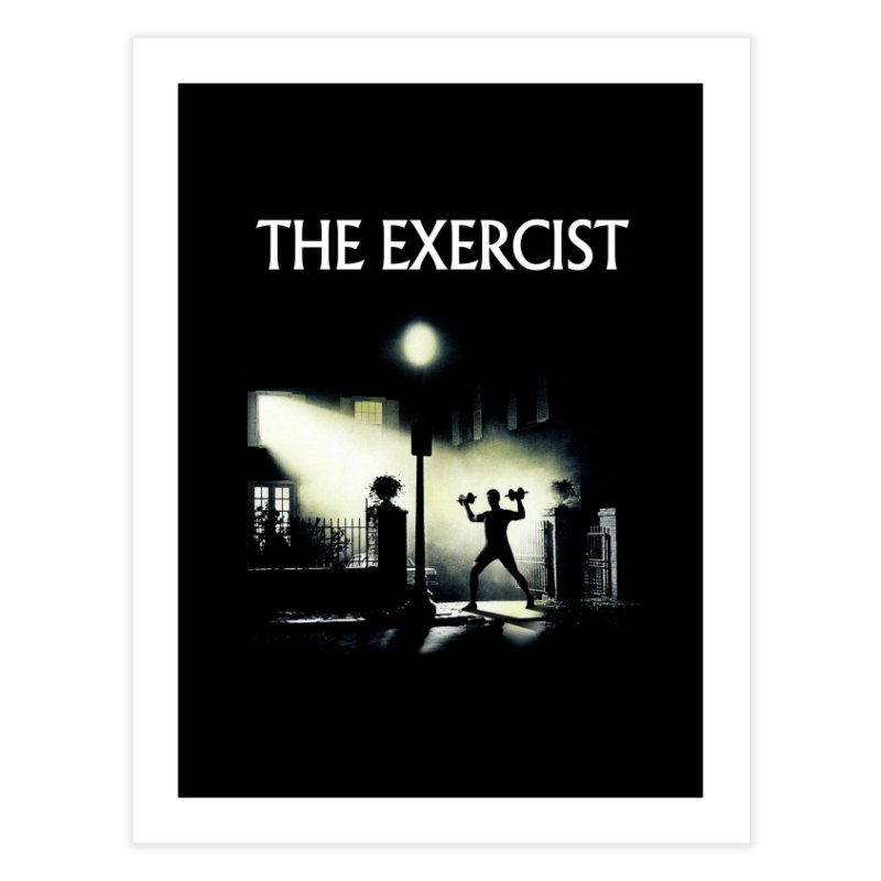 The Exercist Home Fine Art Print by Joe Conde