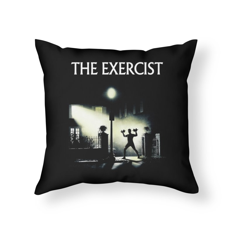 The Exercist Home Throw Pillow by Joe Conde