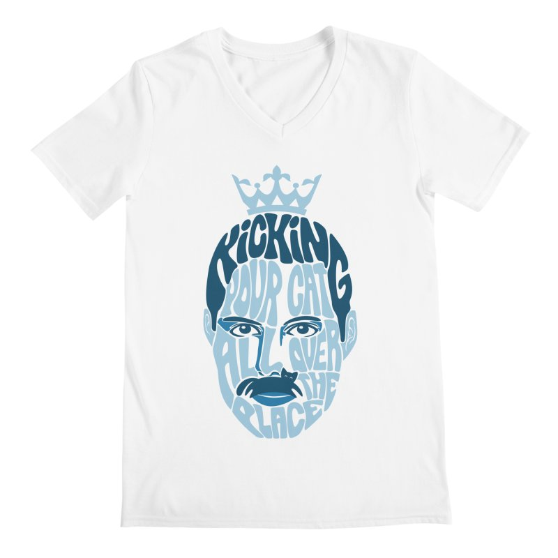 Kicking Your Cat All Over The Place Men's V-Neck by Joe Conde