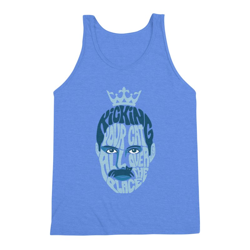 Kicking Your Cat All Over The Place Men's Triblend Tank by Joe Conde