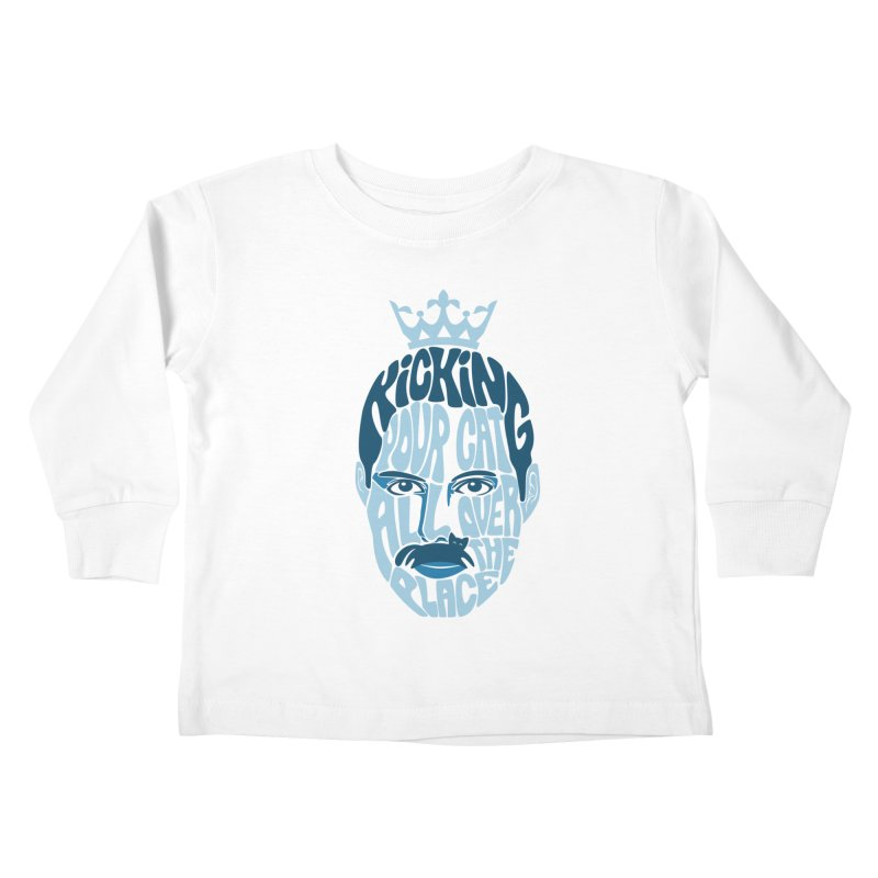 Kicking Your Cat All Over The Place Kids Toddler Longsleeve T-Shirt by Joe Conde