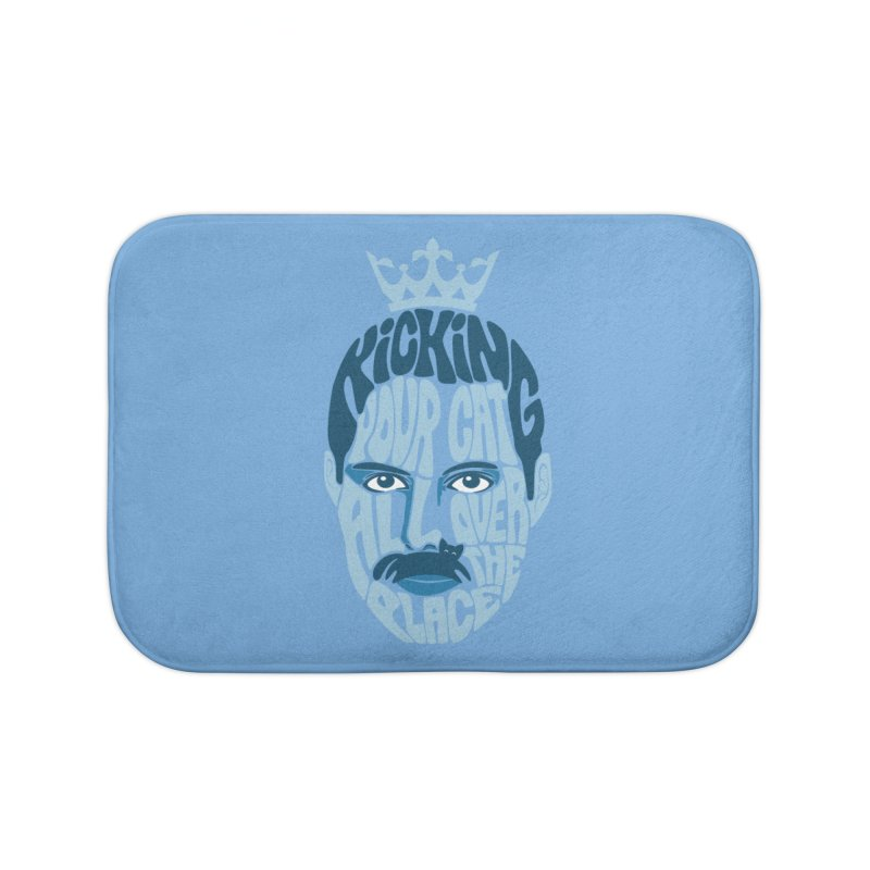 Kicking Your Cat All Over The Place Home Bath Mat by Joe Conde