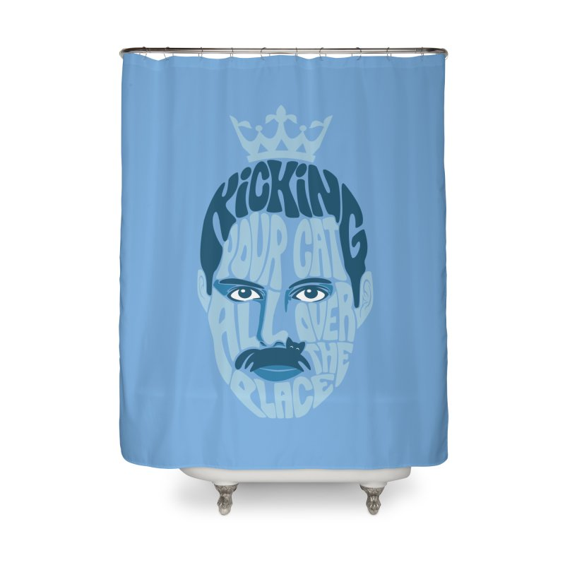 Kicking Your Cat All Over The Place Home Shower Curtain by Joe Conde