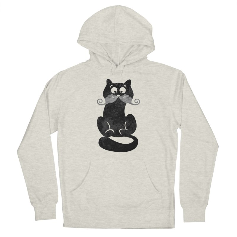 Mousetache Women's French Terry Pullover Hoody by Joe Conde