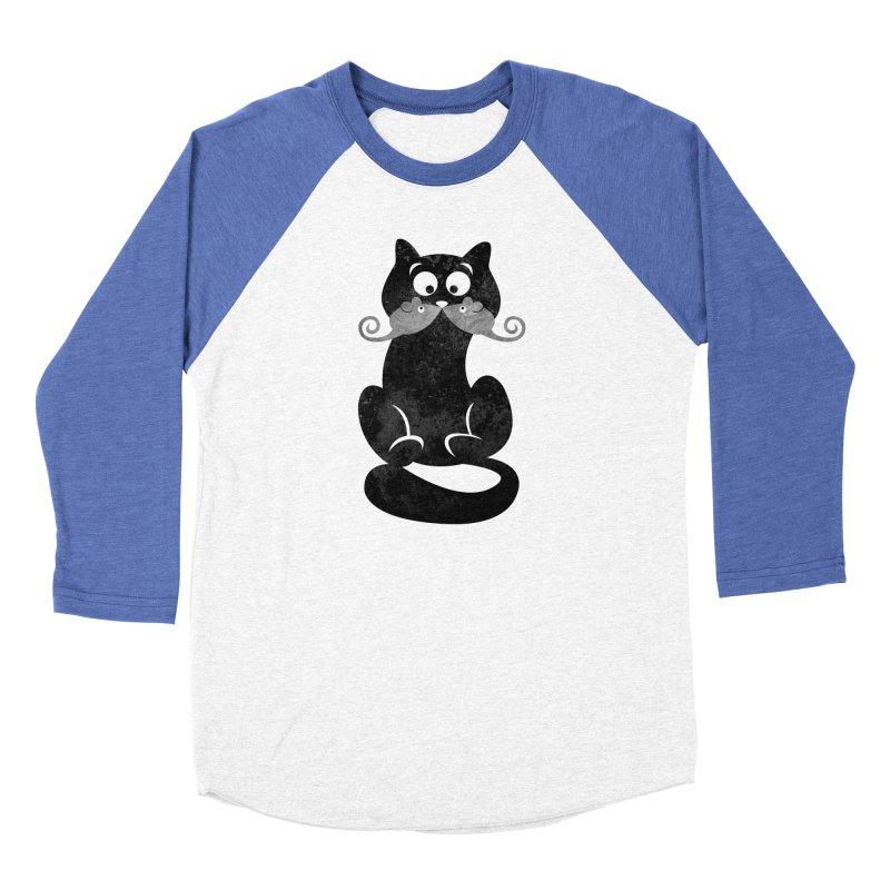 Mousetache Women's Baseball Triblend Longsleeve T-Shirt by Joe Conde