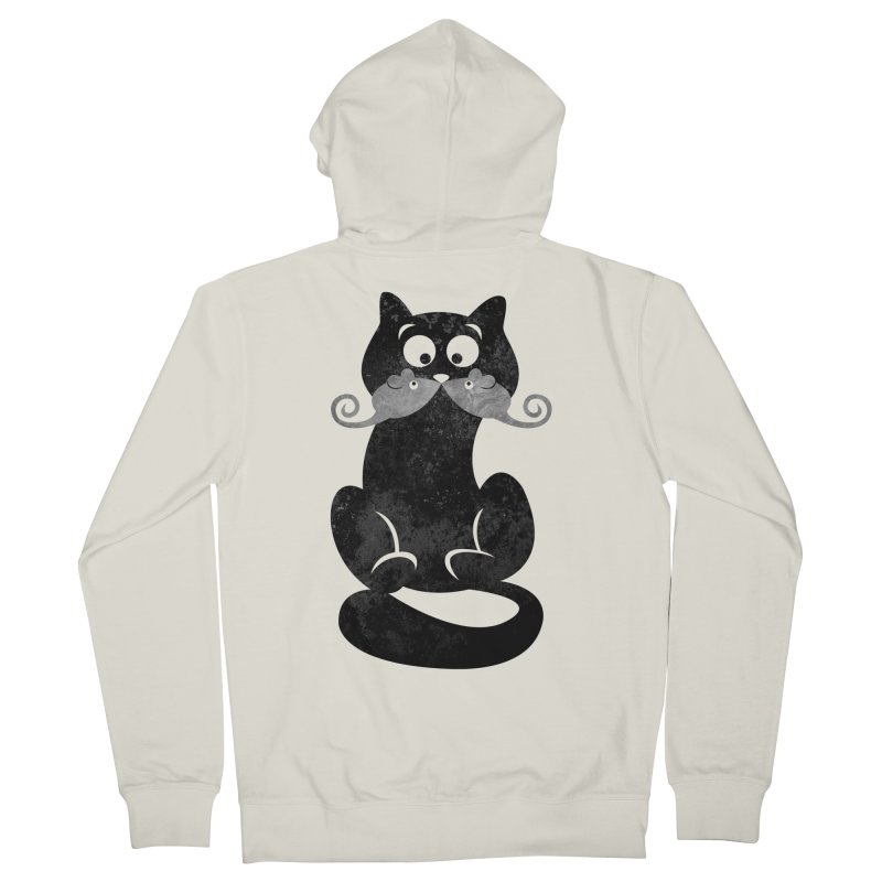 Mousetache Men's French Terry Zip-Up Hoody by Joe Conde