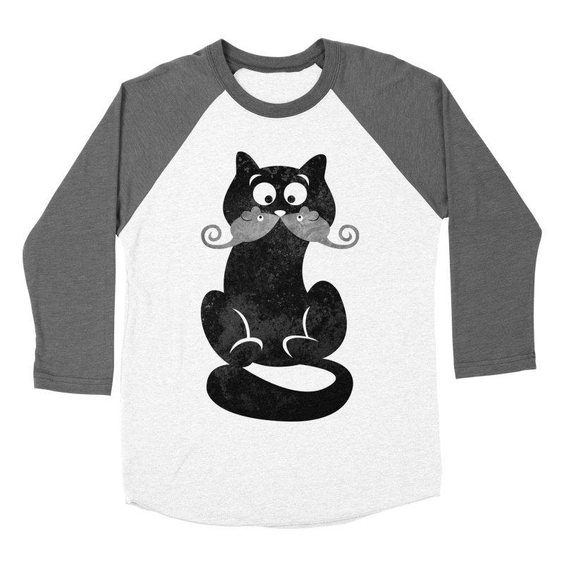 Mousetache Women's Baseball Triblend T-Shirt by Joe Conde
