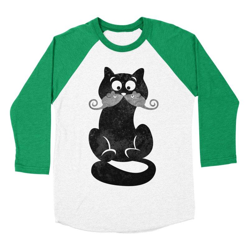 Mousetache Men's Baseball Triblend Longsleeve T-Shirt by Joe Conde