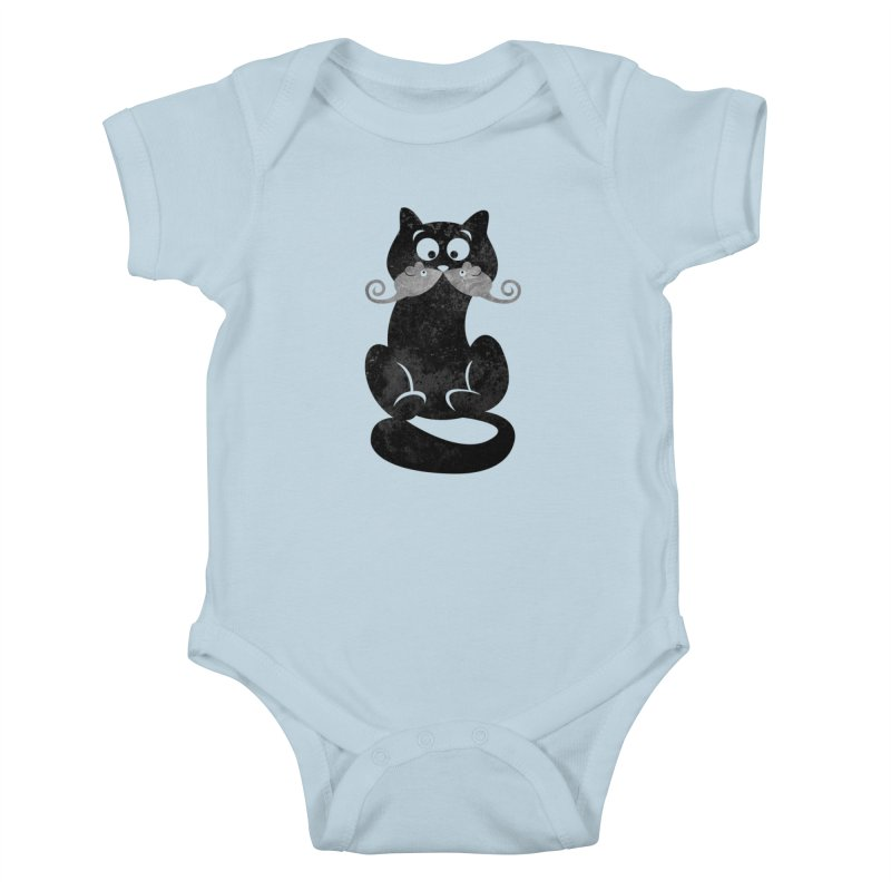 Mousetache Kids Baby Bodysuit by Joe Conde
