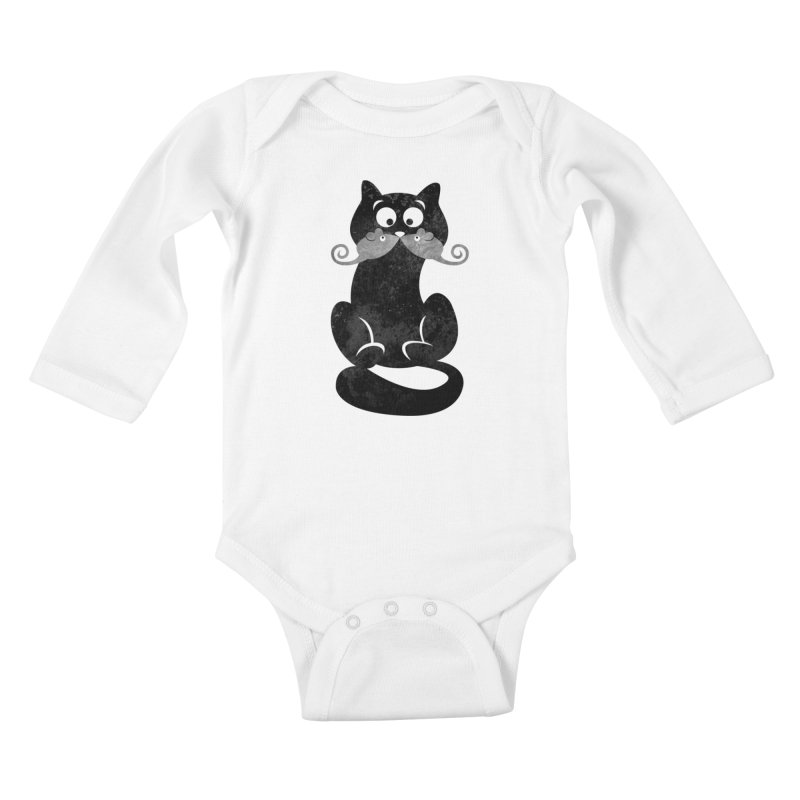 Mousetache Kids Baby Longsleeve Bodysuit by Joe Conde