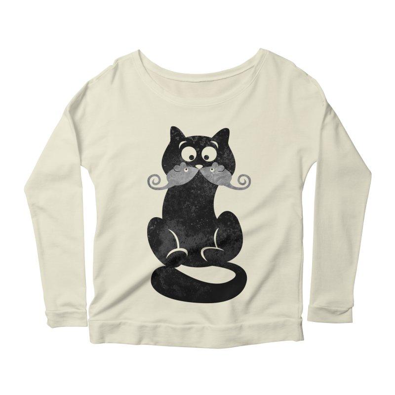 Mousetache Women's Scoop Neck Longsleeve T-Shirt by Joe Conde