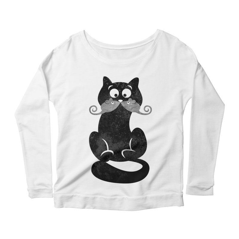 Mousetache Women's Scoop Neck Longsleeve T-Shirt by Joe Conde