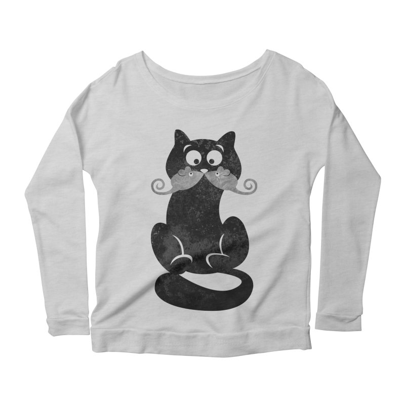 Mousetache Women's Longsleeve Scoopneck  by Joe Conde