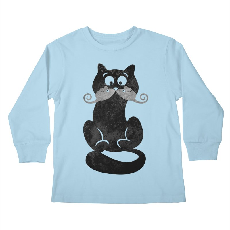 Mousetache Kids Longsleeve T-Shirt by Joe Conde