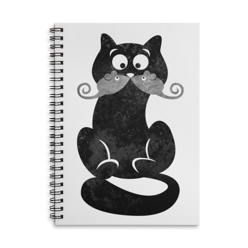 Mousetache Accessories Lined Spiral Notebook by Joe Conde