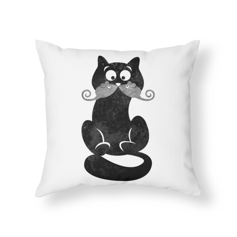 Mousetache Home Throw Pillow by Joe Conde