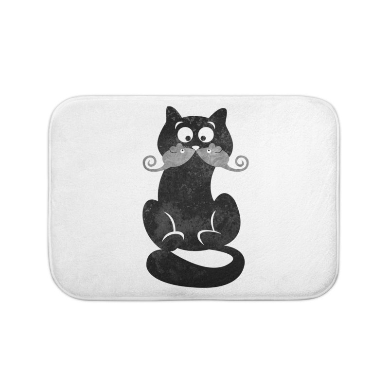 Mousetache Home Bath Mat by Joe Conde