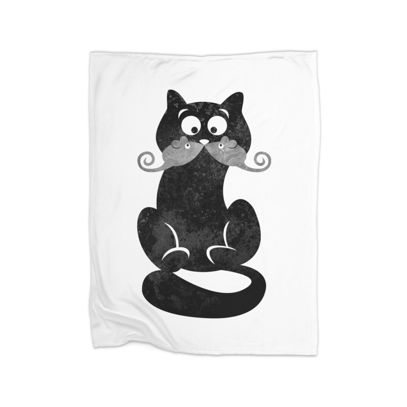 Mousetache Home Fleece Blanket Blanket by Joe Conde