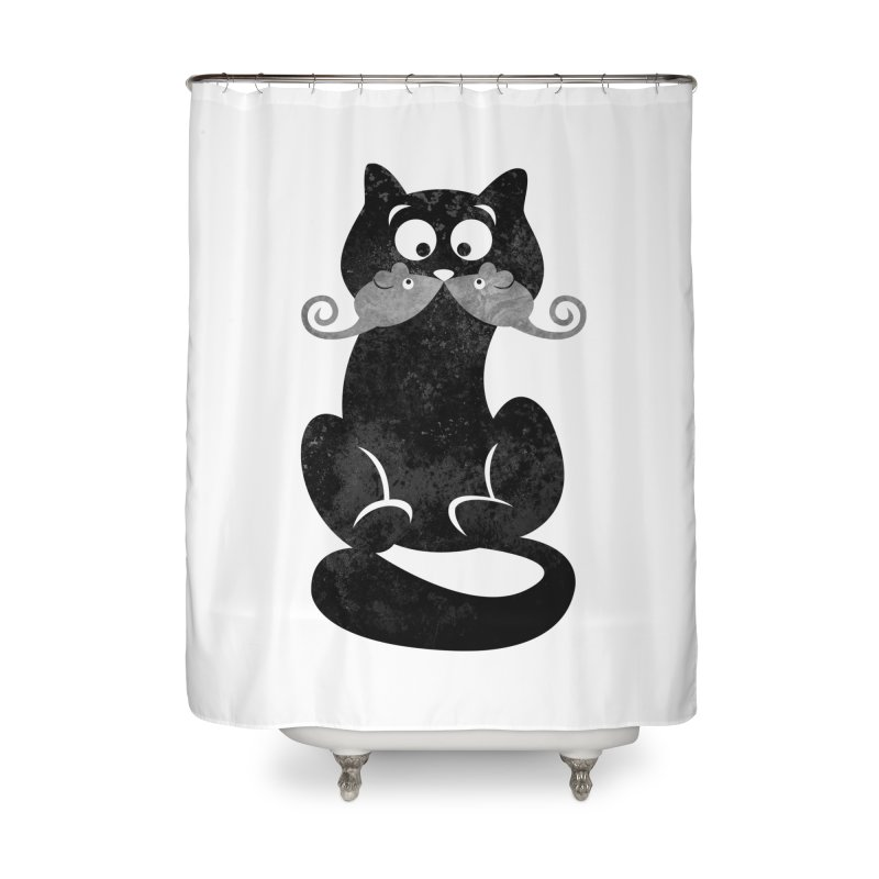 Mousetache Home Shower Curtain by Joe Conde