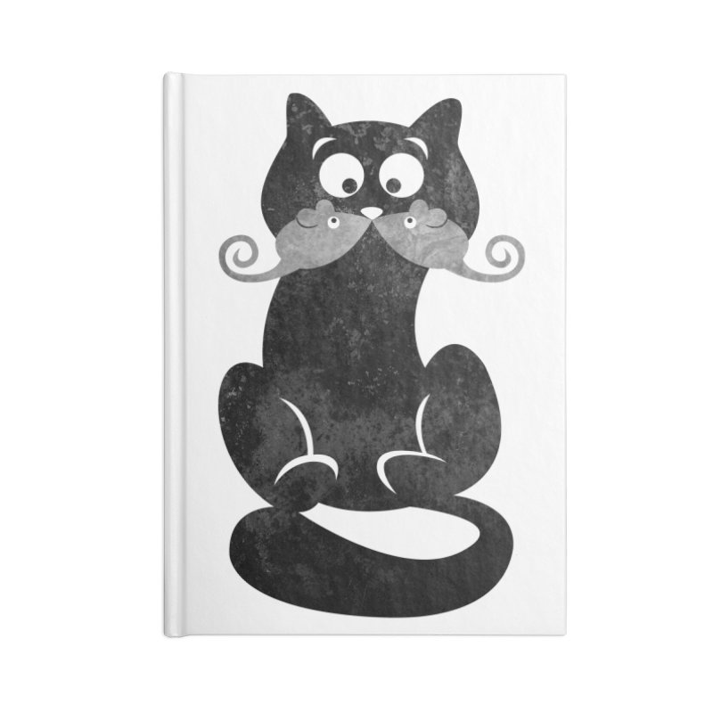 Mousetache Accessories Blank Journal Notebook by Joe Conde