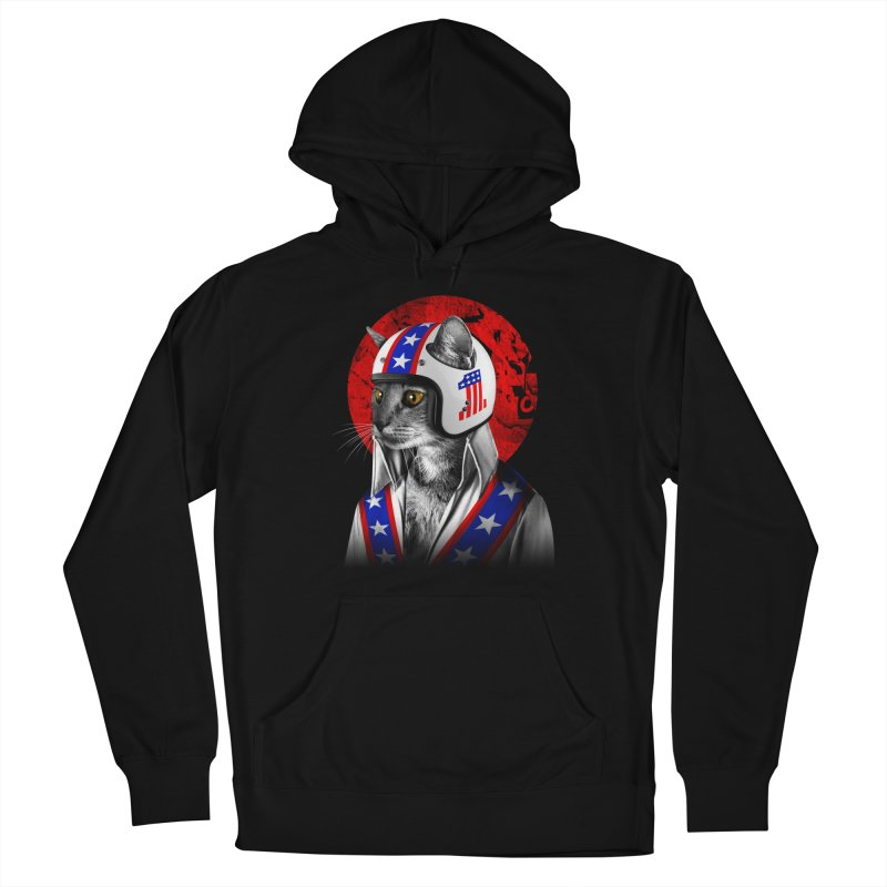 Evel Katneivel Women's French Terry Pullover Hoody by Joe Conde