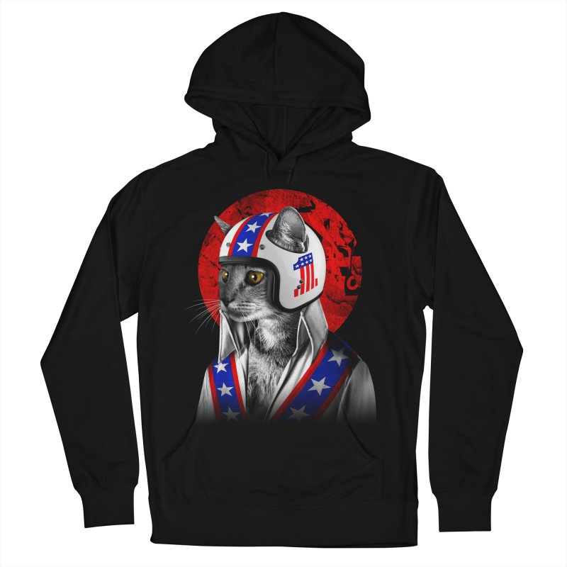 Evel Katneivel Men's French Terry Pullover Hoody by Joe Conde