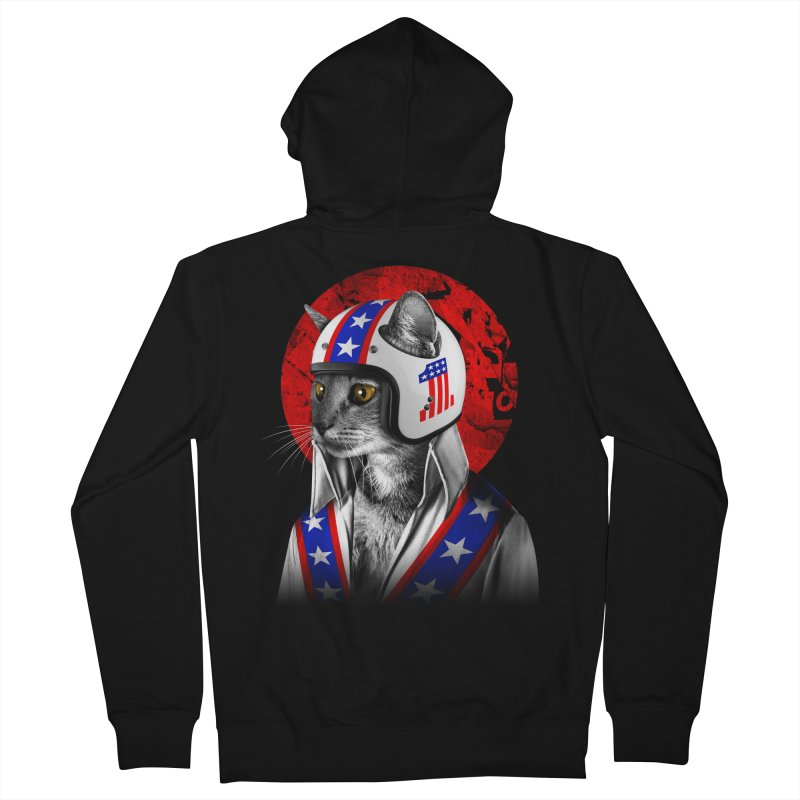 Evel Katneivel Men's French Terry Zip-Up Hoody by Joe Conde