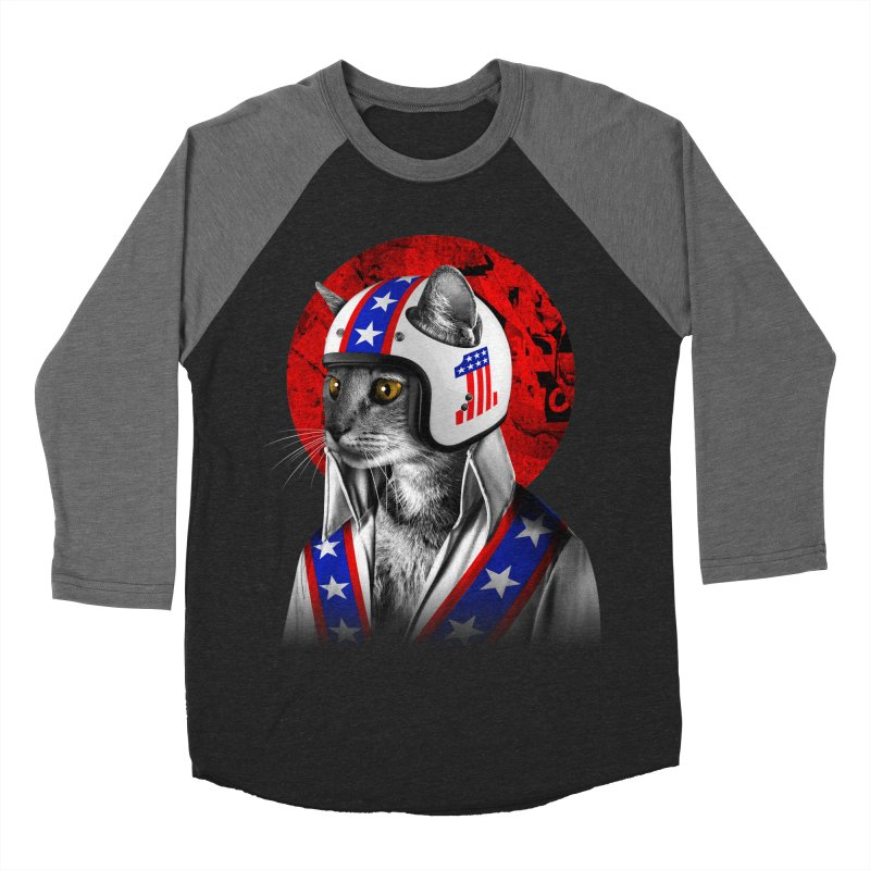Evel Katneivel Men's Baseball Triblend Longsleeve T-Shirt by Joe Conde