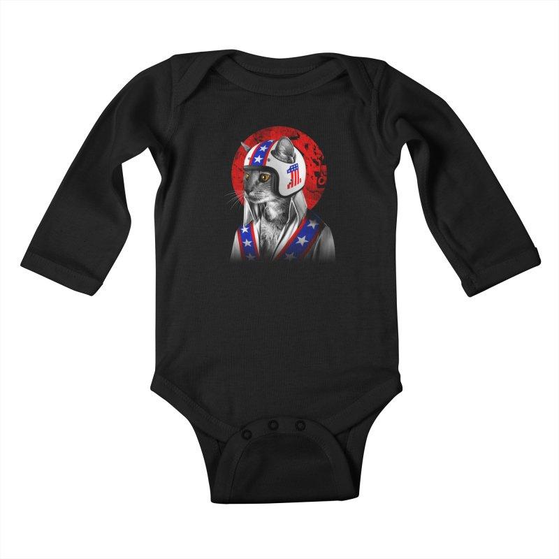 Evel Katneivel Kids Baby Longsleeve Bodysuit by Joe Conde