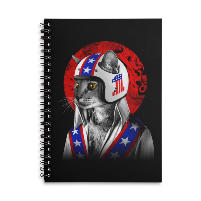 Evel Katneivel Accessories Notebook by Joe Conde